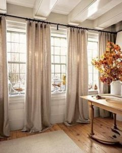 Custom curtains and flooring